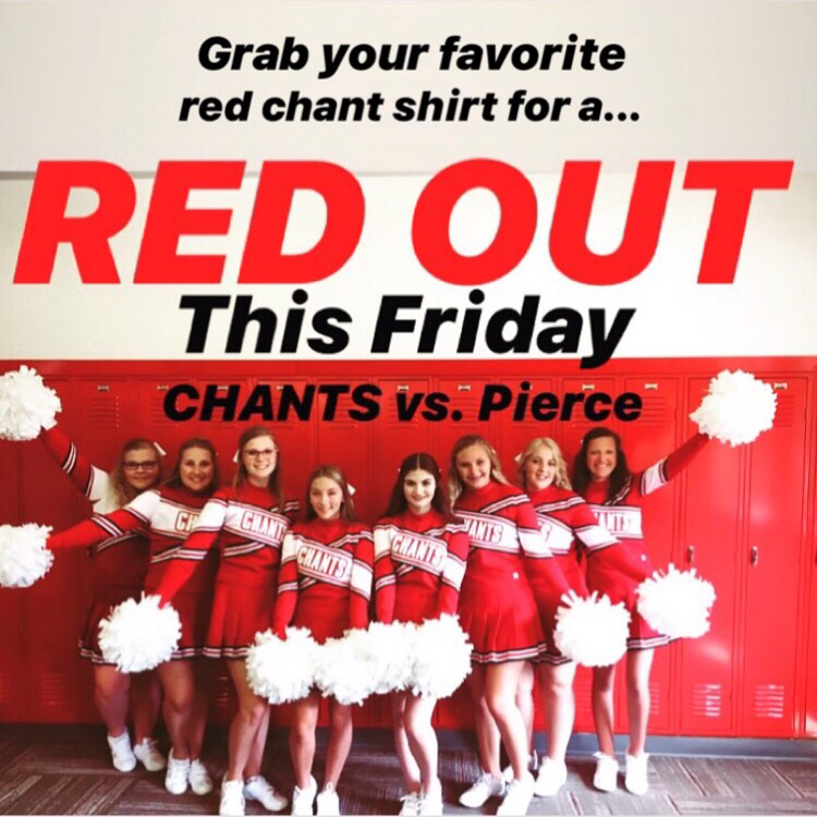Sport your red gear on Friday!