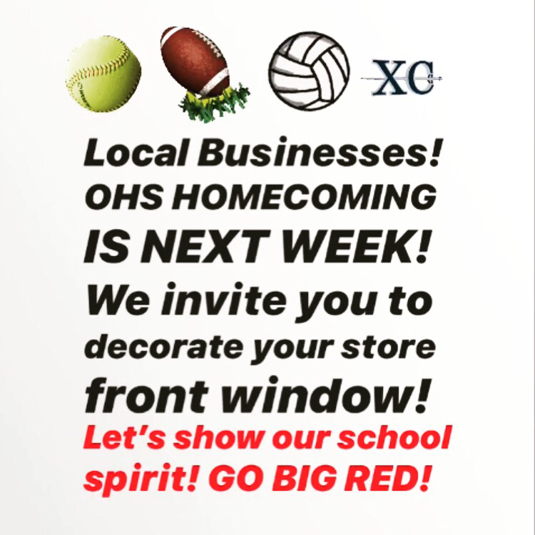 GO BIG RED! Judging on Thursday and winners will be announced at the Pep Rally on Friday!